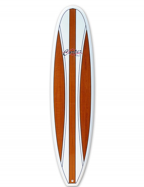 Cortez Fun Veneer surfboard 7ft 2 - Dark Natural Wood