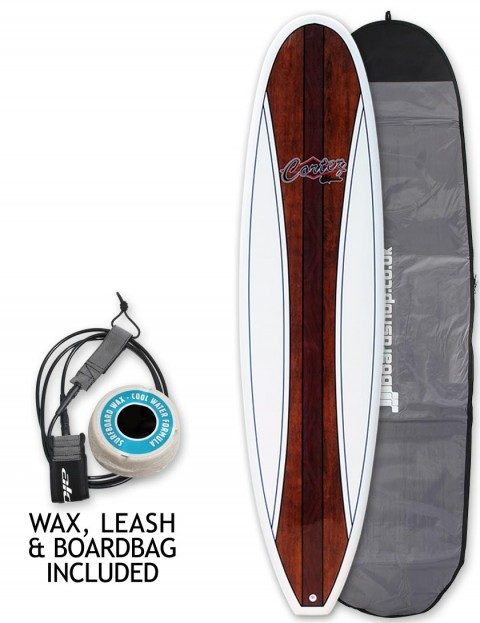 Cortez Fun Veneer Surfboard package 7ft 6 - Mahogany