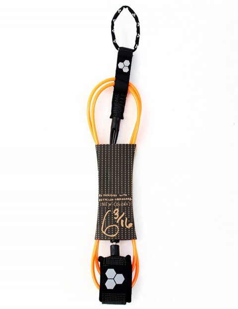 Channel Islands Dane Comp surfboard leash 6ft - Orange
