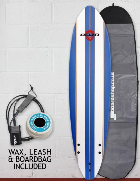 Alder Delta Stringers Soft surfboard package 6ft - Blue Stripe