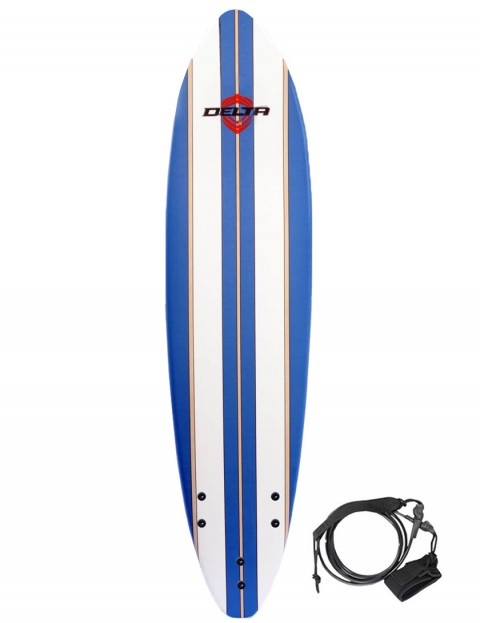 Alder Delta Stringers Soft Surfboard 7ft - Blue Stripe