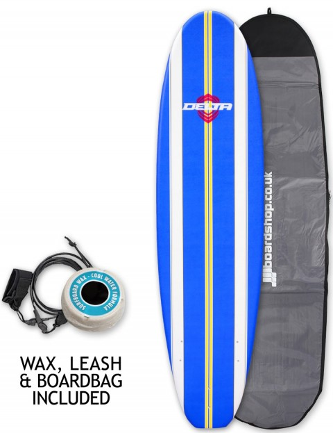 Alder Delta Stringers Soft surfboard package 7ft 6 - Blue Stripe
