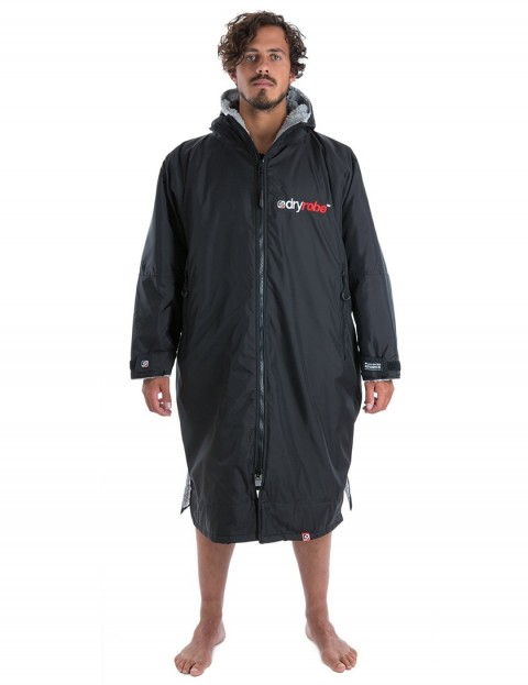 Dryrobe Advance Long Sleeve Adult outdoor change robe - Black/Grey