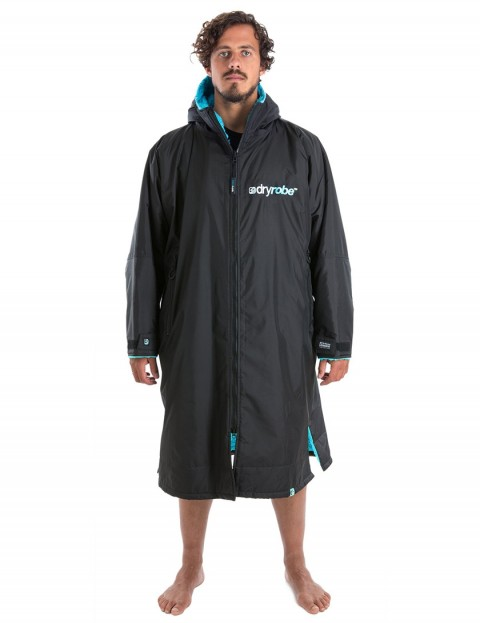 Dryrobe Advance Long Sleeve Large outdoor change robe - Black/Blue