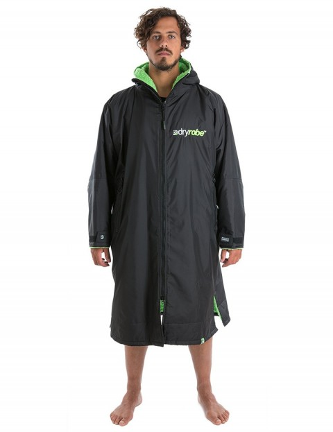 Dryrobe Advance Long Sleeve Medium (adult slim size) outdoor change robe - Black/Green