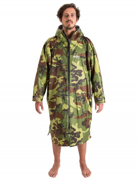 Dryrobe Advance Long Sleeve Medium (adult slim size) outdoor change robe - Camo/Grey