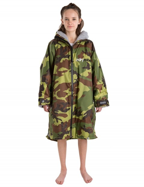 Dryrobe Advance Long Sleeve Small (small adult/kid) outdoor change robe - Camo/Grey