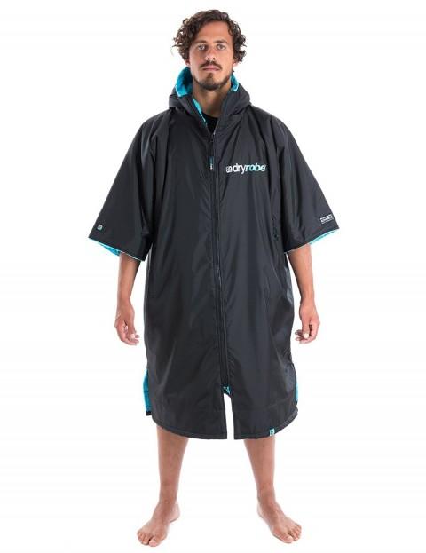 Dryrobe Advance Medium (adult slim size) outdoor change robe - Black/Blue