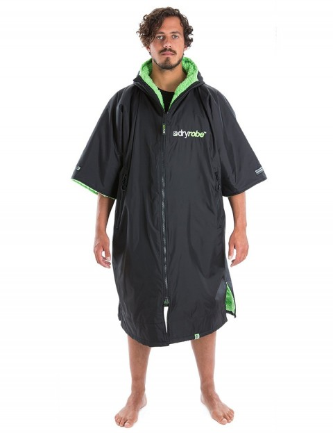 Dryrobe Advance Medium (adult slim size) outdoor change robe - Black/Green