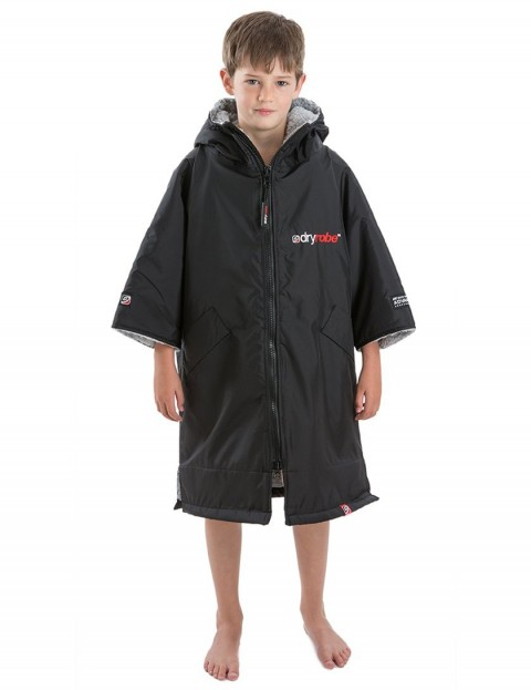 Dryrobe Advance Small (small adult/kid) outdoor change robe - Black/Grey