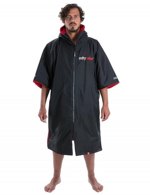 Dryrobe Advance Medium (adult slim size) outdoor change robe - Black/Red