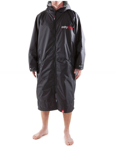 Dryrobe Advance Long Sleeve Medium (adult slim size) outdoor change robe - Black/Grey