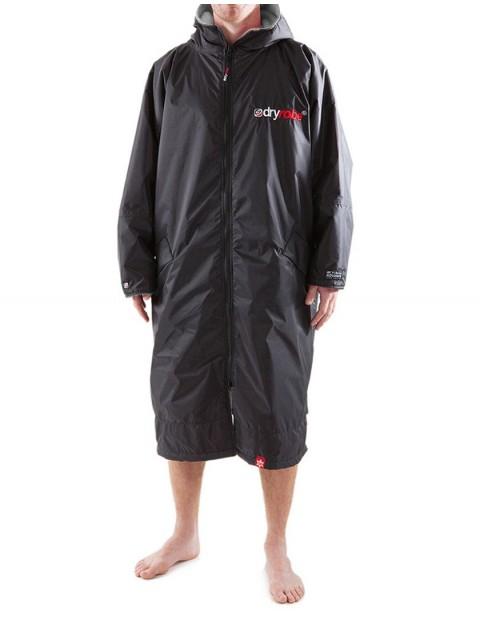 Dryrobe Advance Long Sleeve Medium (adult slim size) outdoor change robe - Black/Grey