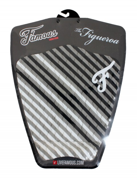 Famous Figueroa Surfboard Tail Pad - Black/White/Grey