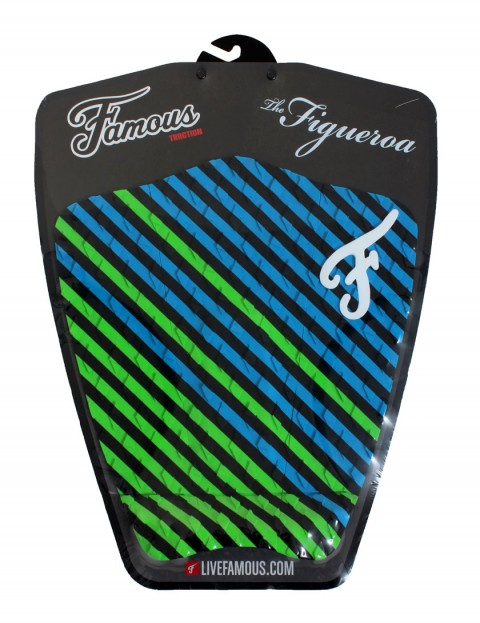 Famous Figueroa Surfboard Tail Pad - Black/Green/Blue