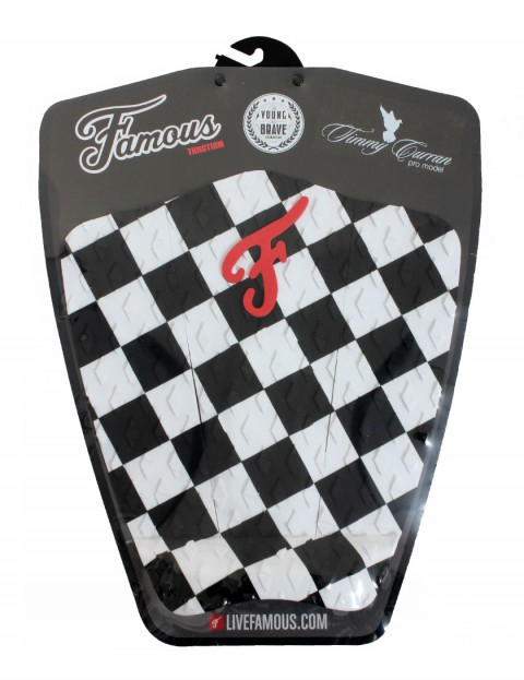 Famous Timmy Curran Surfboard Tail Pad - Black/White