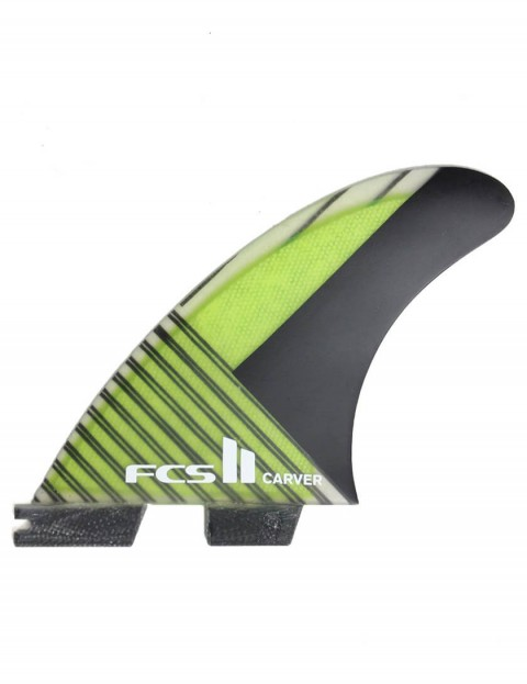 FCS II Carver Thruster PC Carbon Large Tri Fin Set - Green