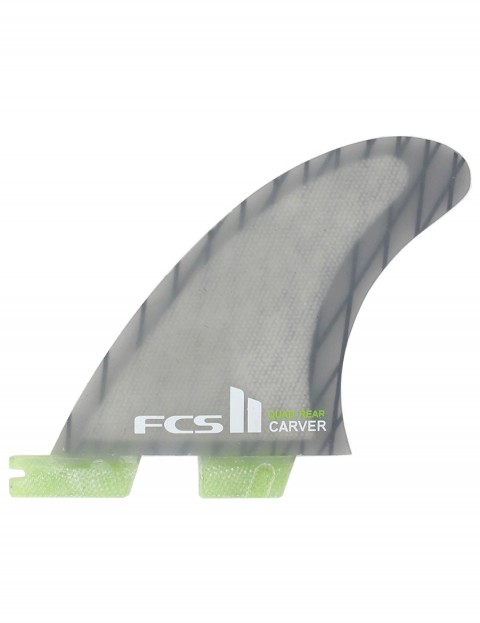 FCS II Carver Quad Rear Fins Medium - Grey