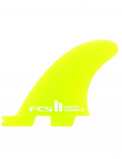 FCS II Carver Neo Glass Quad Rear Two Fin Set Small - Neon Green