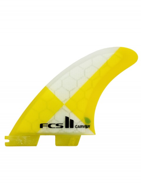 FCS II Carver PC Tri Fins Medium - Yellow