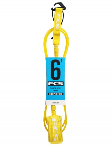 FCS Comp surfboard leash 6ft - Taxi Cab Yellow