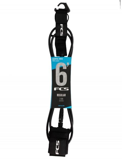 FCS Regular surfboard leash 6ft - Black