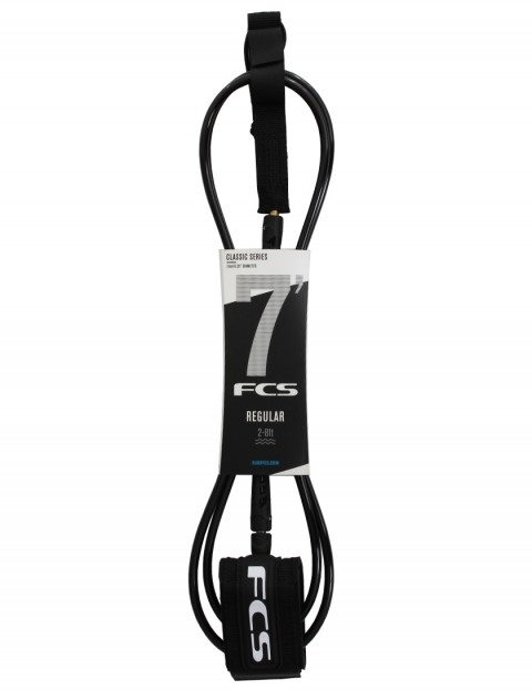 fcs regular classic surfboard leash 7ft black