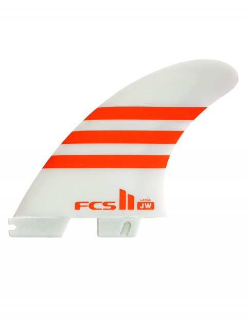 FCS II JW PC Tri Fins Large - Orange/White