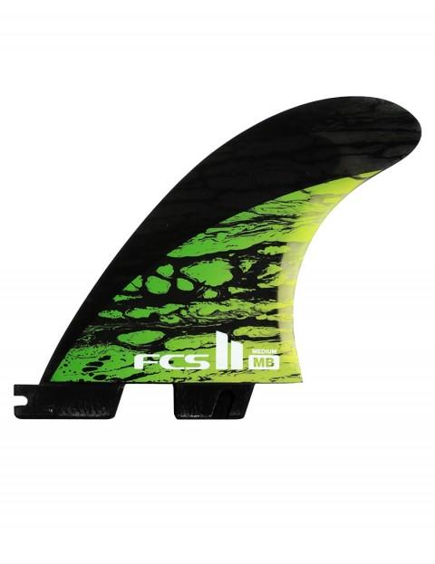 FCS II Matt Biolos PC Carbon Tri Fin Medium - Green