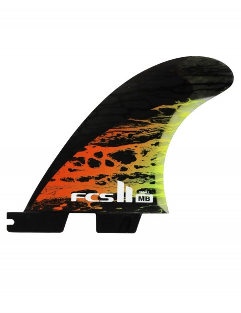 FCS II Matt Biolos PC Carbon Tri Fin Small - Orange