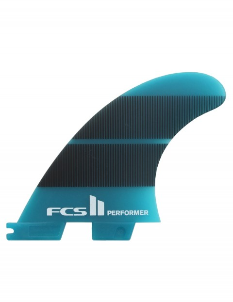 FCS II Performer Neo Glass Tri Fins Large - Teal Gradient