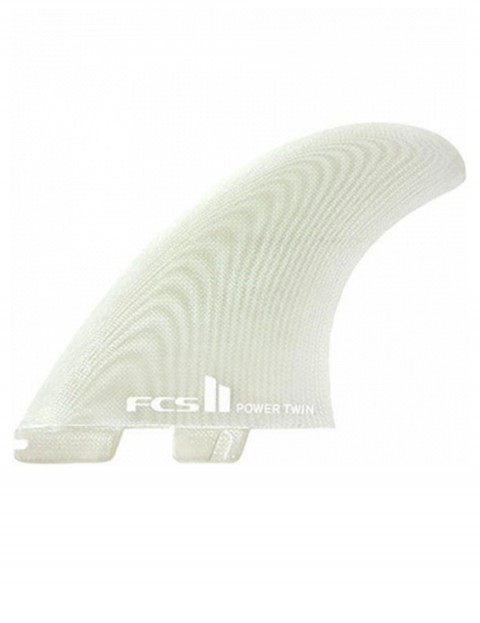 FCS II Power Twin + Stabilizer PG Tri Fins X Large - Clear