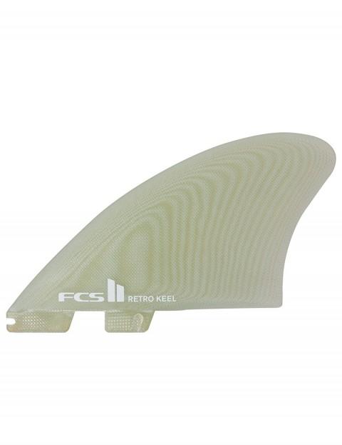 FCS II Retro Keel PG Twin Fins X Large - Clear