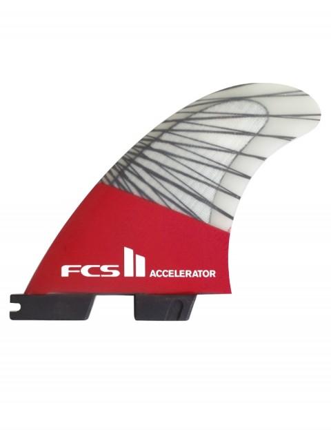 FCS II Accelerator PC Carbon Tri Fin fins Medium - Red Mood