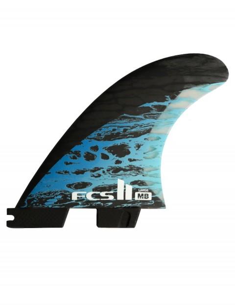 FCS II Matt Biolos PC Carbon Tri Fin Large - Blue