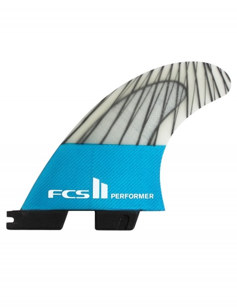 FCS II Performer PC Carbon Tri Fins Small - Teal Blue