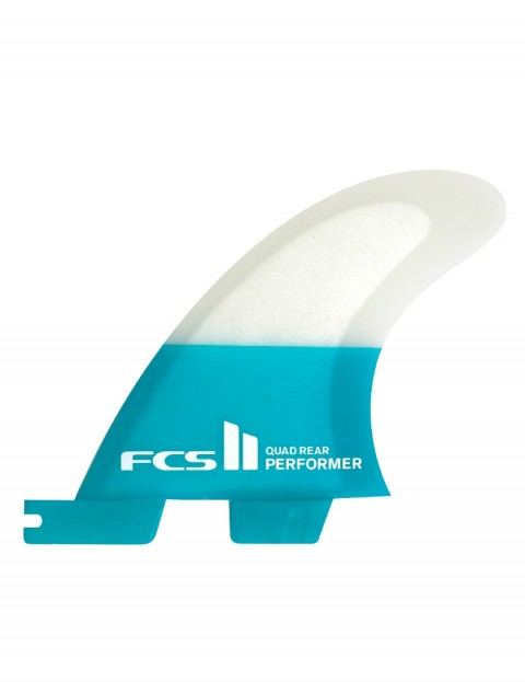 FCS II Performer PC Quad Rear Fins Small - Teal