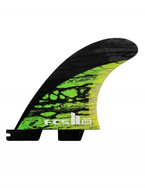FCS II Matt Biolos PC Carbon Tri-Quad Fins Medium - Green