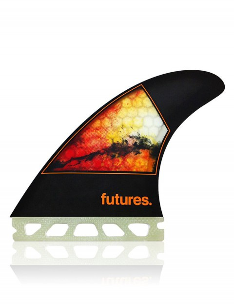 Futures Jordy Smith Honeycomb Thruster Fin Set Medium - Orange