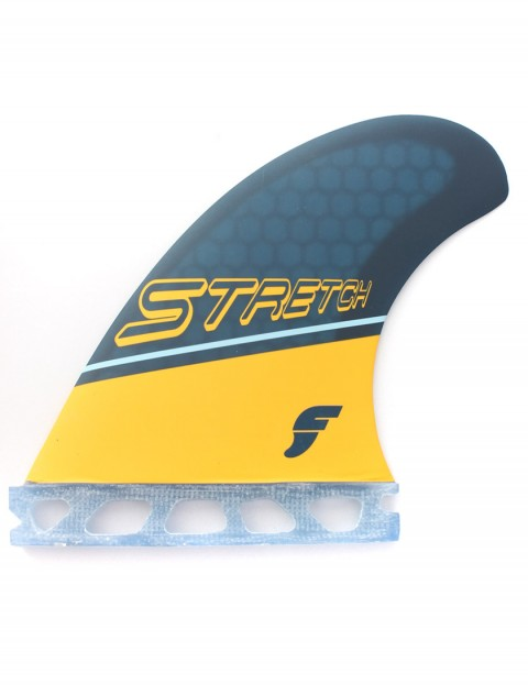 Futures Stretch Quad Fins Medium - Yellow/Blue
