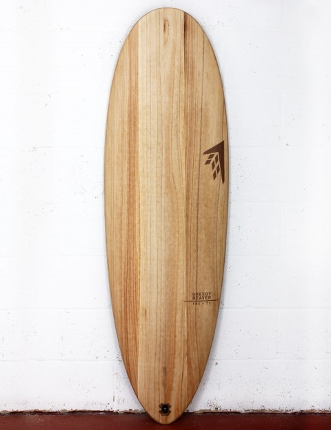 Firewire Timbertek Greedy Beaver surfboard 6ft 2 FCS II - Natural Wood