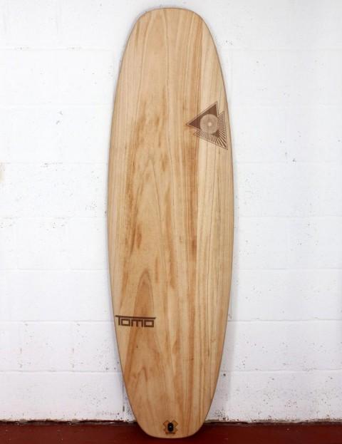Firewire Timbertek Evo surfboard 5ft 6 Futures - Natural Wood