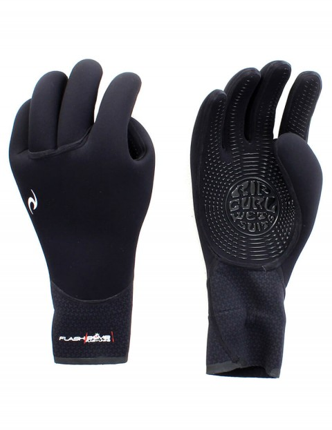 Rip Curl Flash Bomb 5 Finger 5/3mm Wetsuit Gloves - Black