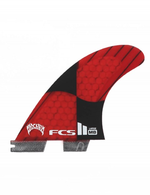 FCS II Matt Biolos PC Carbon Tri-Quad Fins Large - Rocket Red