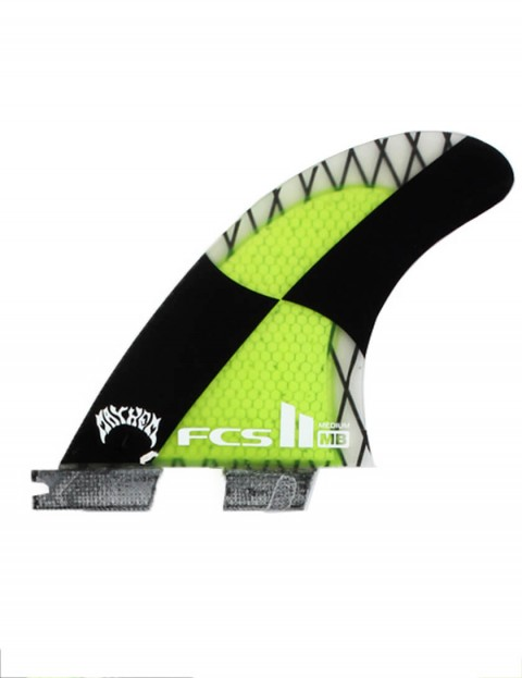 FCS II Matt Biolos PC Carbon Tri-Quad Five Fins Medium - Acid Green