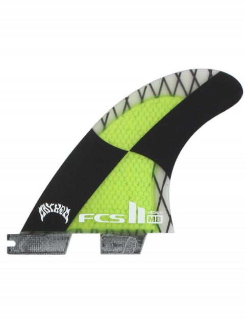FCS II Matt Biolos PC Carbon Tri-Quad Fins Medium - Acid Green