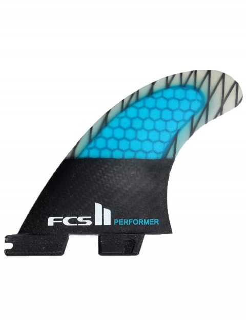 FCS II Performer Thruster PC Carbon Large Tri Fin Set - Blue