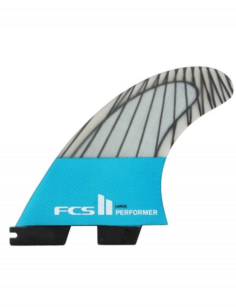 FCS II Performer PC Carbon Tri Fins Large - Teal