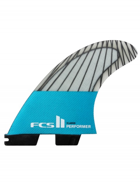 FCS II Performer PC Carbon Tri Fins X Large - Teal