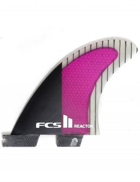 FCS II Reactor Thruster PC Carbon Medium Tri Fin Set - Purple